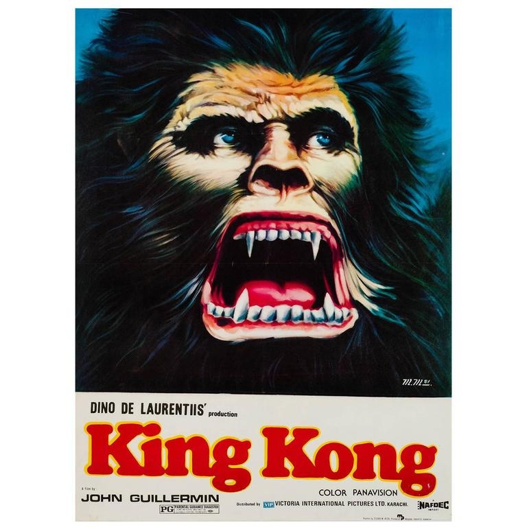 King Kong Original Pakistani Film Poster 1981 King Kong Film