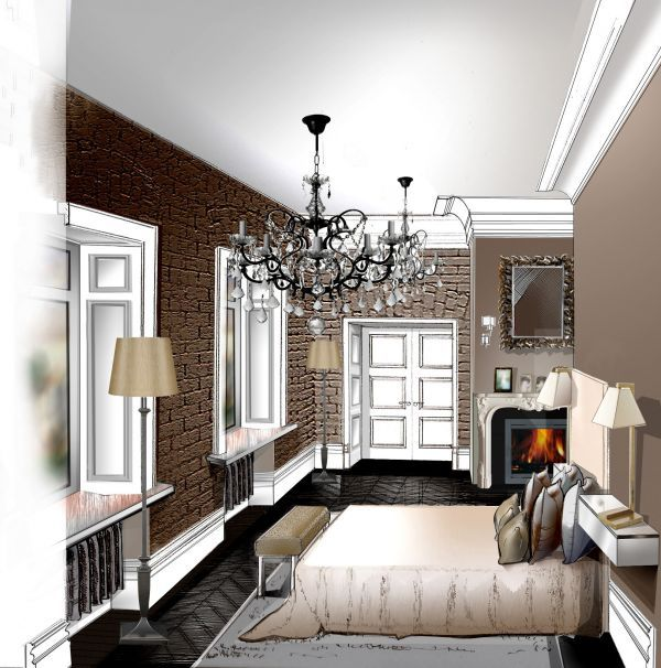 Interior Design Color Concept Interior Color Pencils Drawing  Поиск В Google  Рисунок Интерьер .