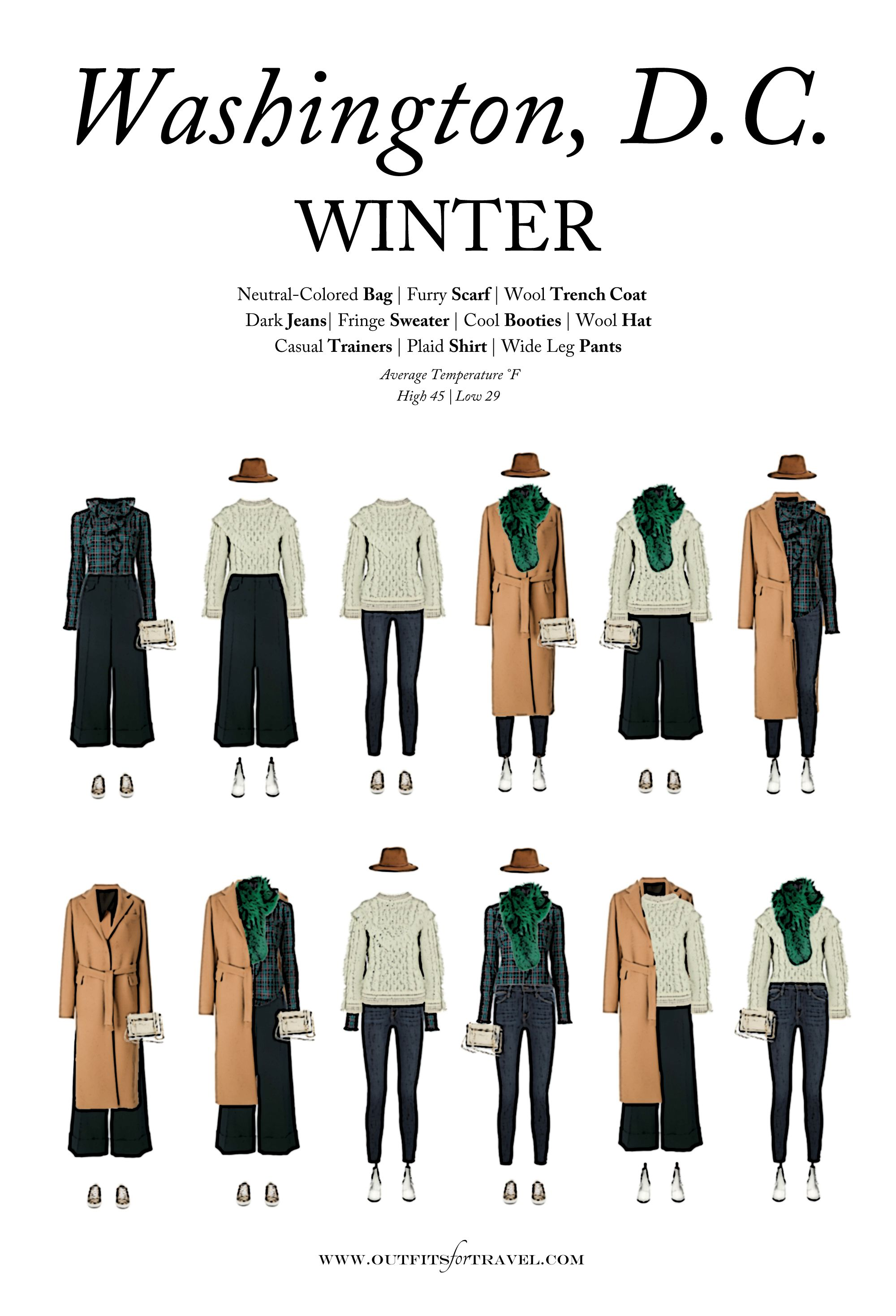 What To Wear To Washington Dc This Winter Travel Outfits For December January Or Fe Fashion Capsule Wardrobe Winter Wardrobe Outfits Winter Capsule Wardrobe