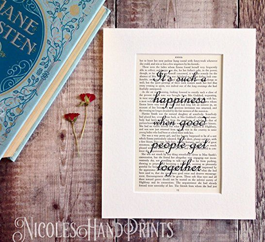 Jane Austen Book Prints Engagement Gifts For Anniversary