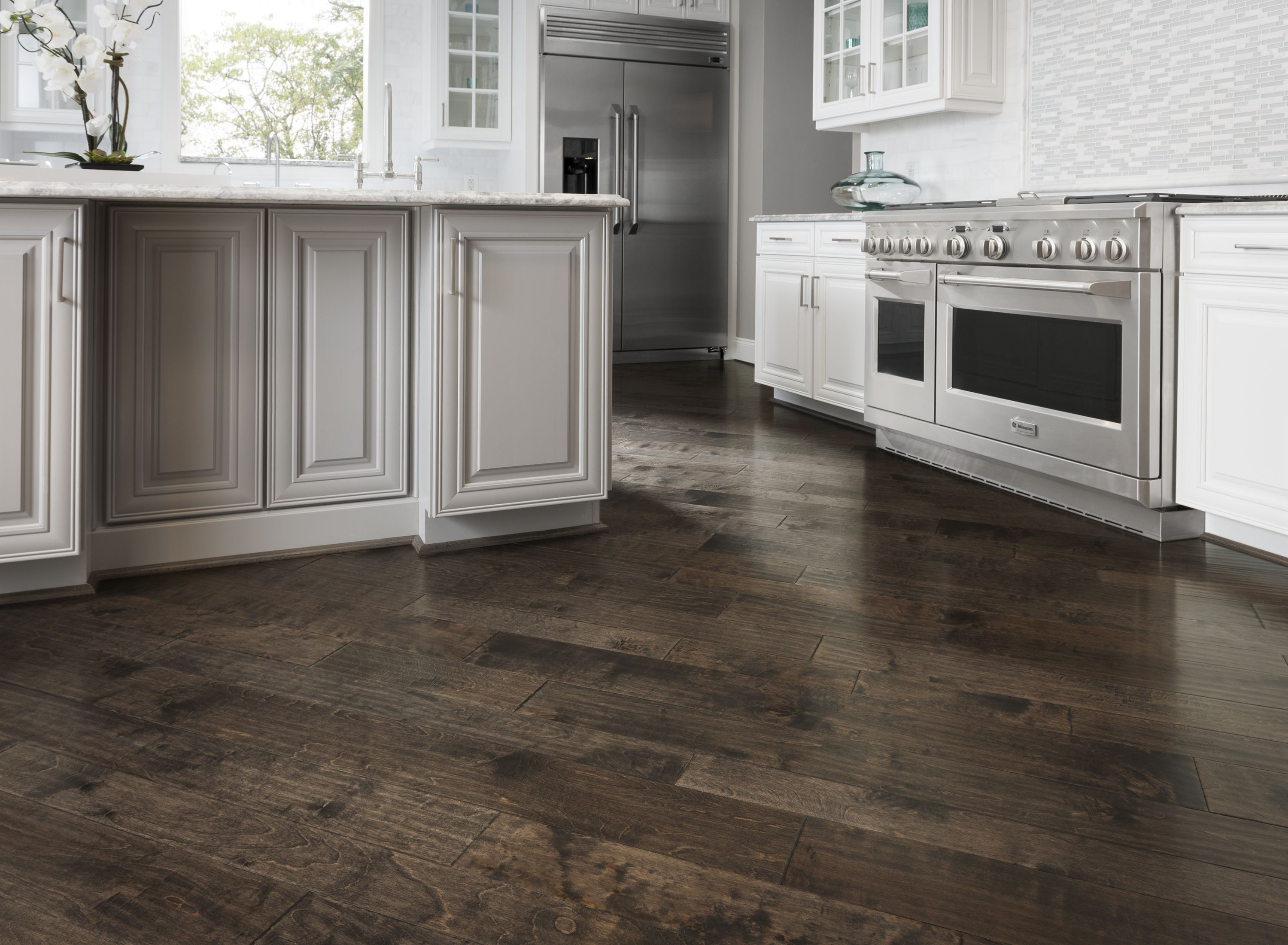 Also from Armstrong's wood flooring collection - Artesian Hand-Tooled - is  this birch hardwood
