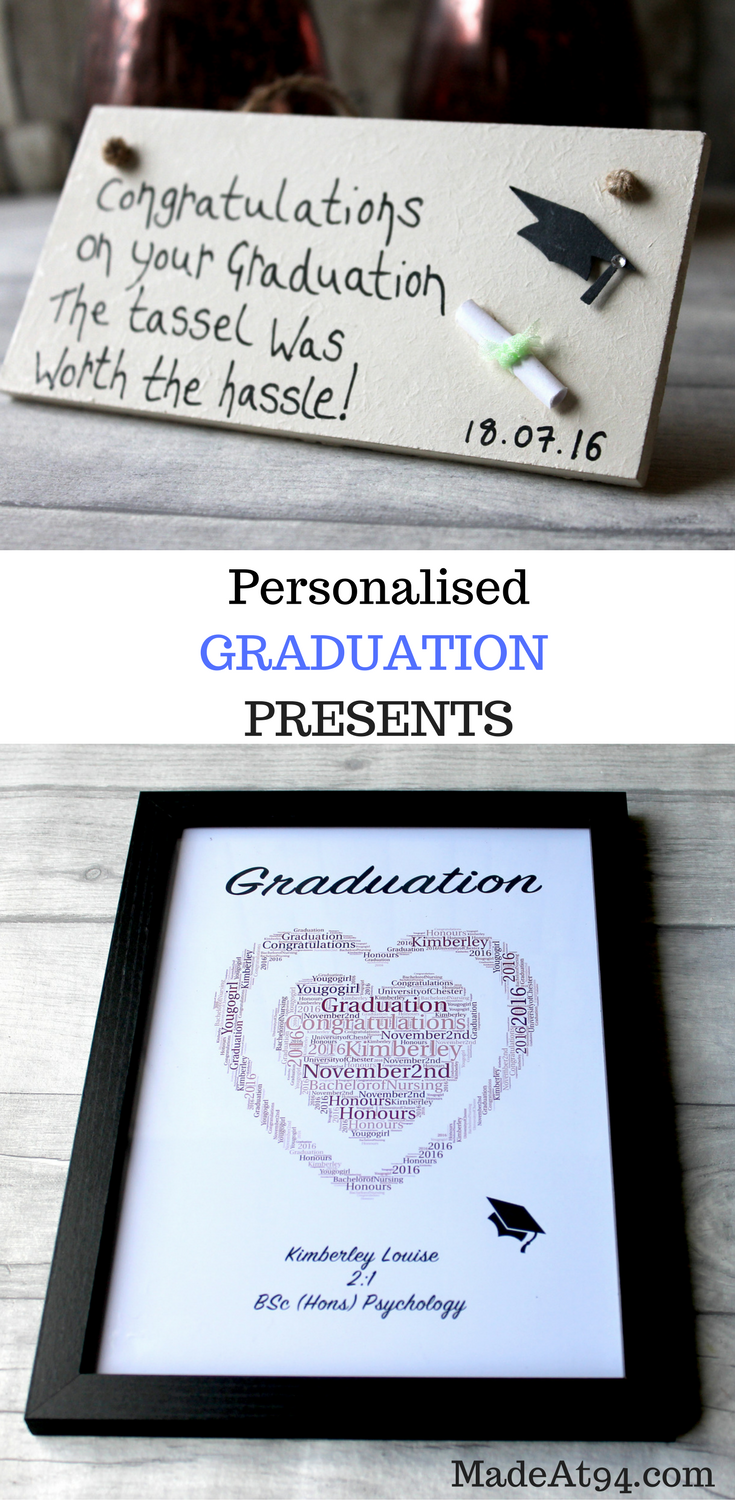 Top  Graduation Gifts For University Leavers And College Graduates Personalised Graduation Gifts For Her And Him For Your Girlfriend And Boyfriend