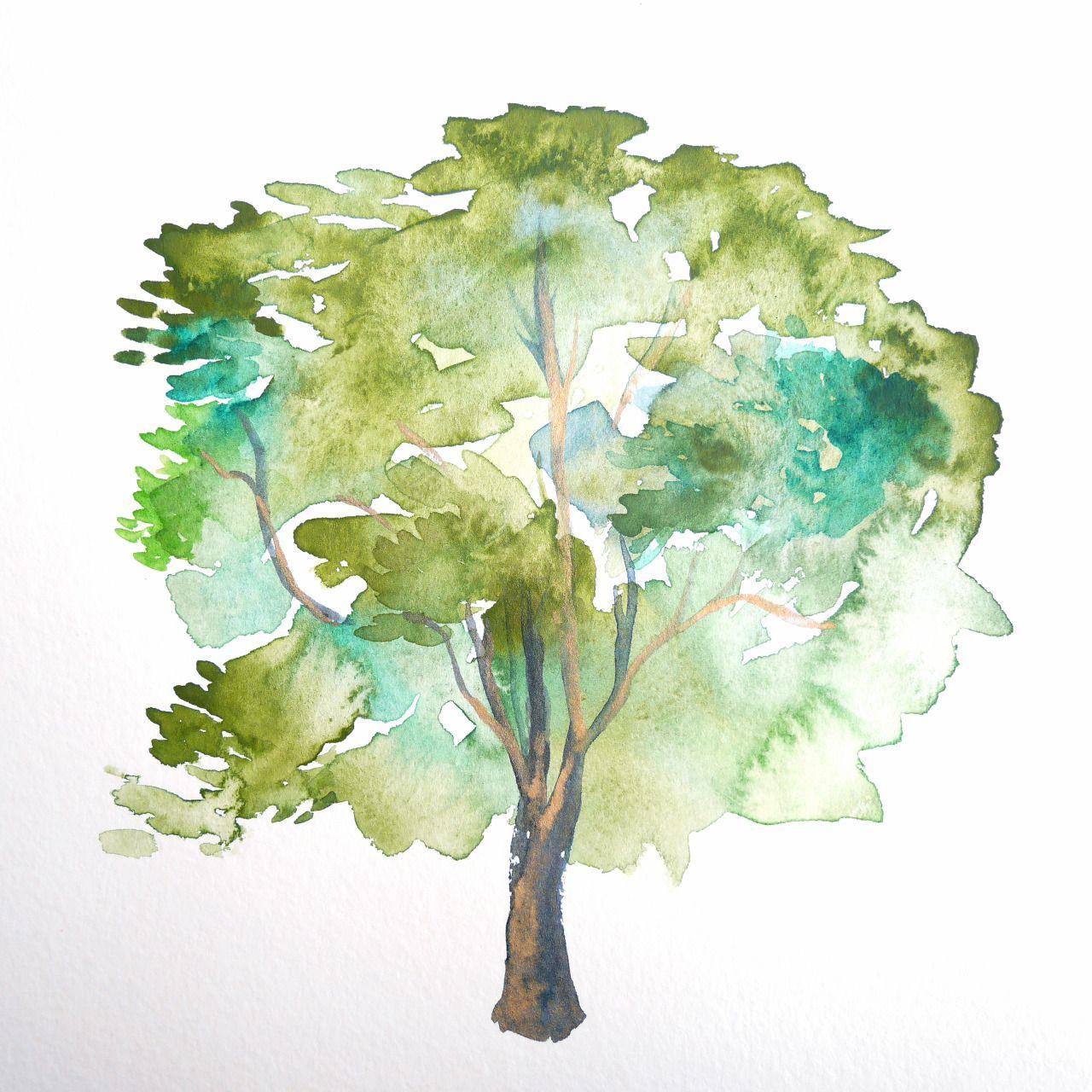 watercolor trees - Google Search | кусты и деревья | Pinterest ...