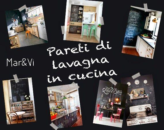 Parete Di Lavagna In Cucina : Mar vi creative studio italia arredare low cost pareti di
