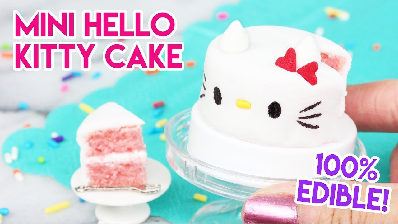 How to Make a Mini Hello Kitty Cake in an Easy Bake Oven! - YouTube