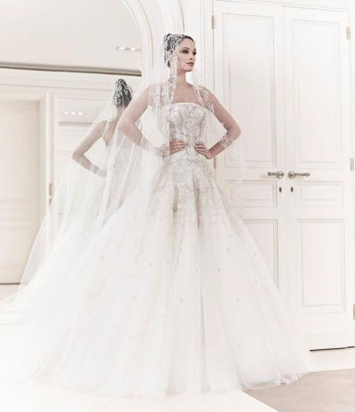 "designerbridalroom: ""Fairytale moment with Zuhair Murad """
