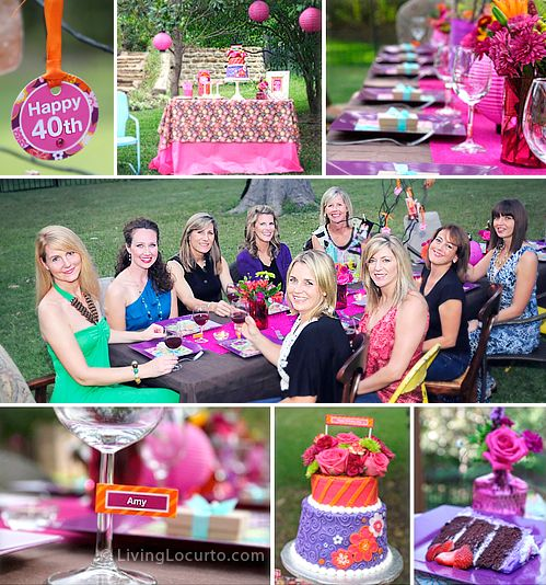 40th Birthday Outdoor Garden Party Adult Birthday Party 40th