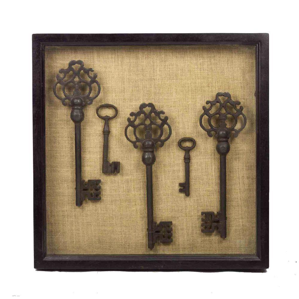 Vintage key shadow box | Cuadro, Decoracion de cuadros y Marcos