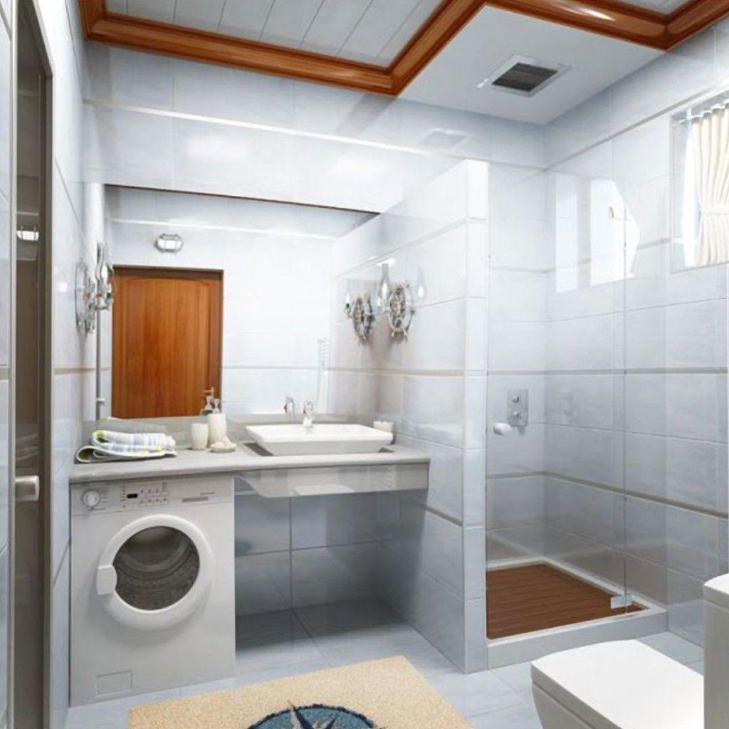 Small Bathroom Laundry Design glass and laundry small bathroom interior | house | pinterest
