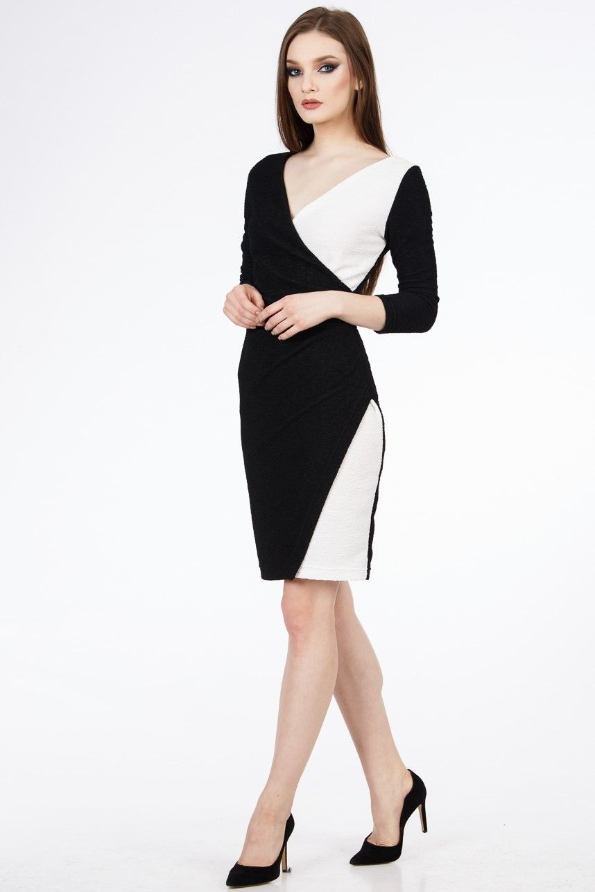 Sexy Black And White Dress Summer Dresses Outfit Ideea Office