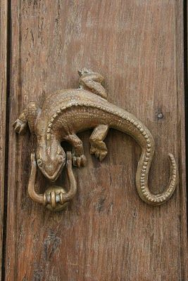 Lizard door knocker - Grant K. Gibson Knock knock | Wiggles & Swirls ...