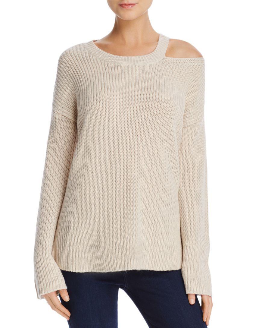 4f6722e3a7a1fb AQUA Single Cold Shoulder Sweater - 100% Exclusive
