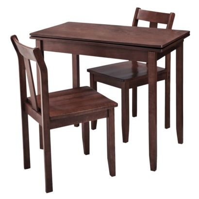 3-pc. Expandable Dining Set w/ Storage - Dark Tobacco (Next to ...