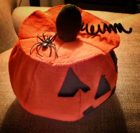 Soft Halloween Jack-O-Lantern by CissysFiberArt on Etsy