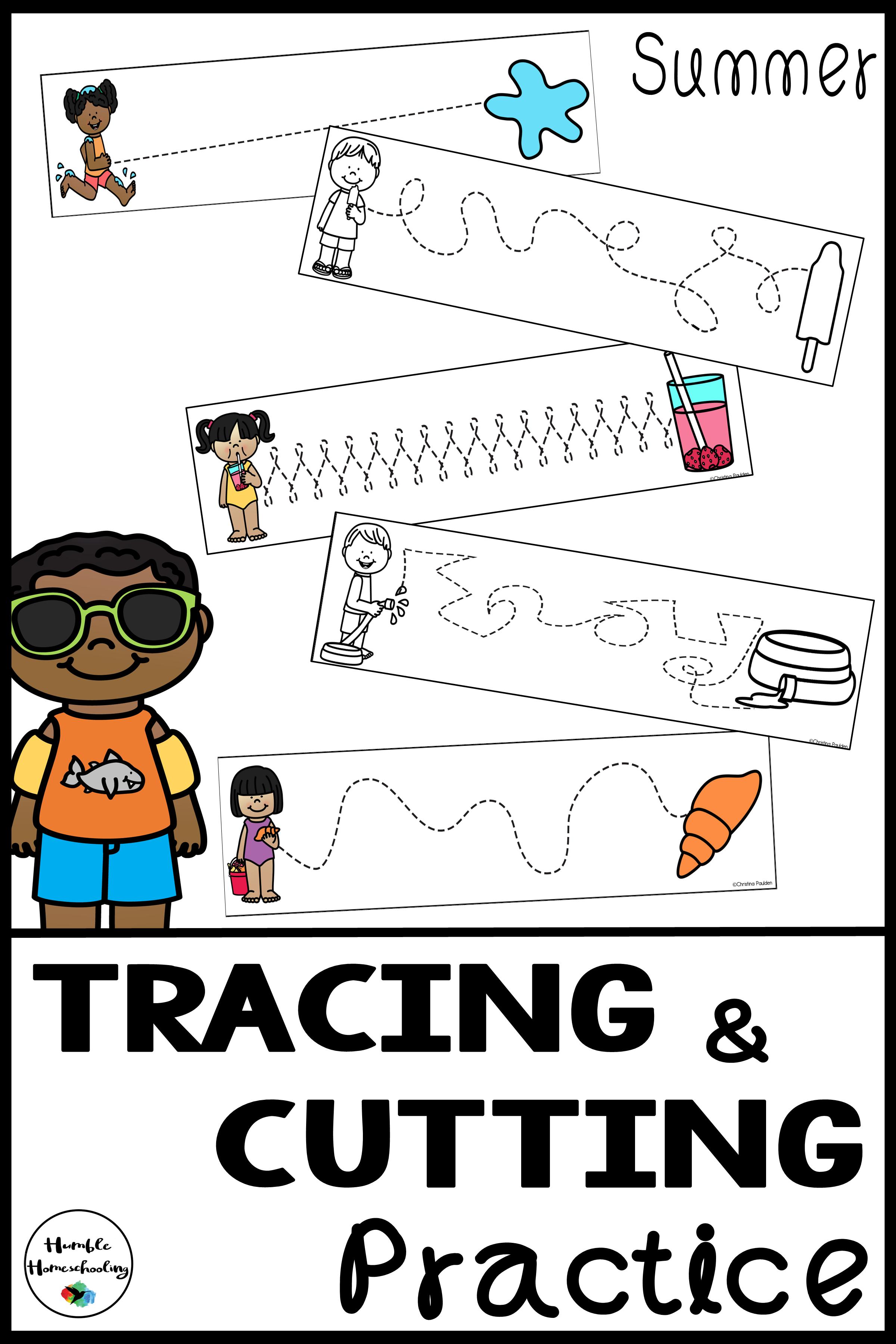 Tracing Skill Prewriting Practice Worksheets Summer
