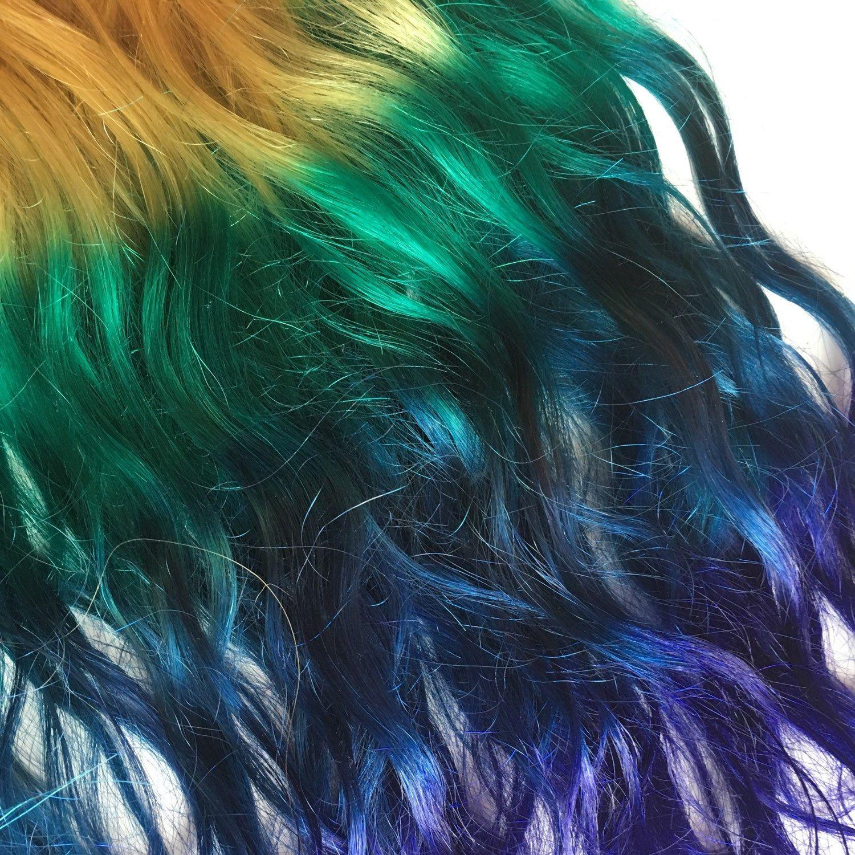 Ombre hair extensions silver lavender purple violet fade dip dye