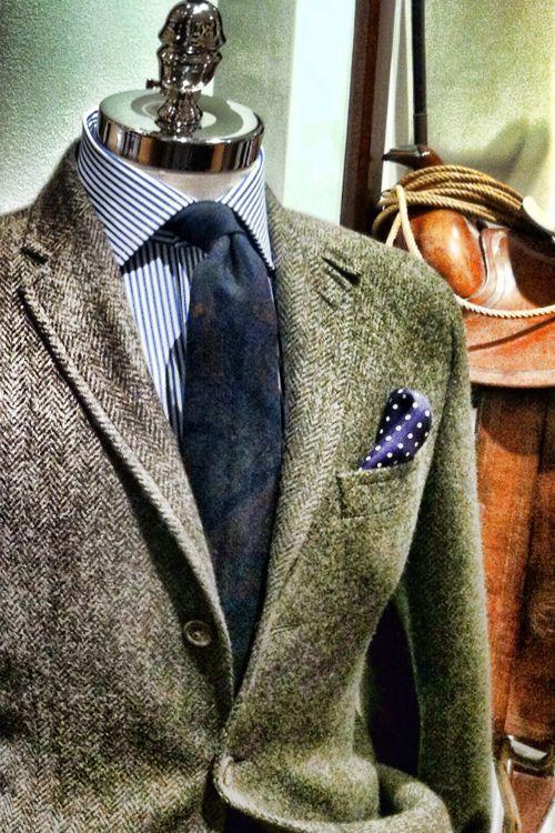 Tweed. Cowboy fancy. Add wranglers, buckaroos and a flathat.