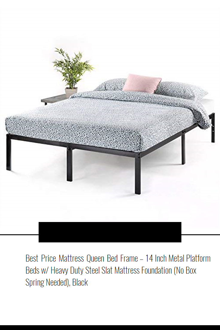 daa52fed2e5 Best Price Mattress Queen Bed Frame – 14 Inch Metal Platform Beds w  Heavy  Duty