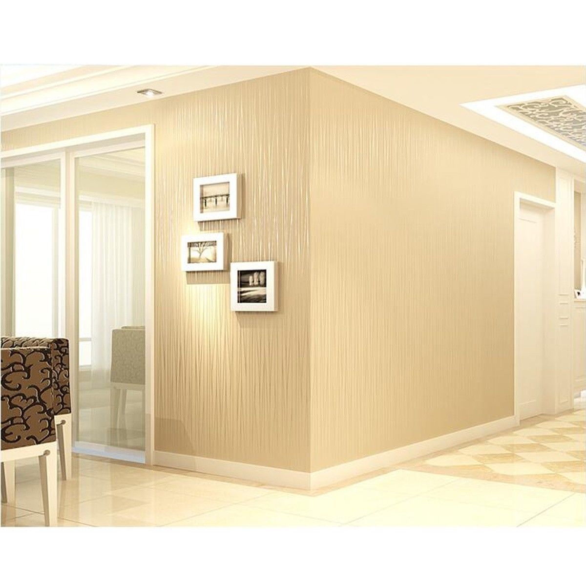 10m Modern Non Woven Wallpaper 3D Mural Rolls Bedroom Wall Art Paper Background   eBay