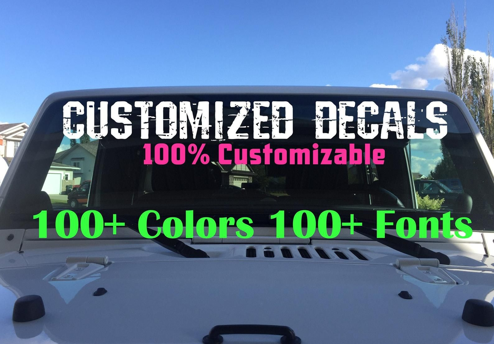 Custom Window Decals Window Sticker Car Truck Window Custom Stickers Windshield Decal Custom Car Decal Company Name Decals Personalized