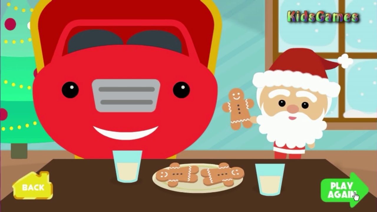 Cartoons for kids - Christmas playing games - Santa Claus sled ride ...