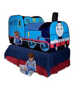 Playhut Thomas and Friends The Tank Engine Train Play Hut Pop Tent w Caboose NIB  sc 1 st  Pinterest & Playhut-Thomas-The-Tank-Engine-2-In-1-Bed-Topper-NIB-TENT-Indoor ...