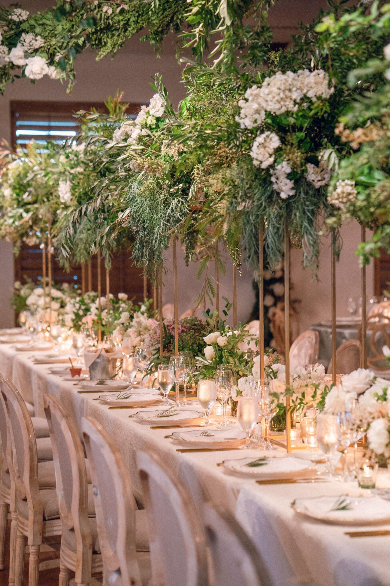 Stunning Charleston indoor garden party wedding reception at ...