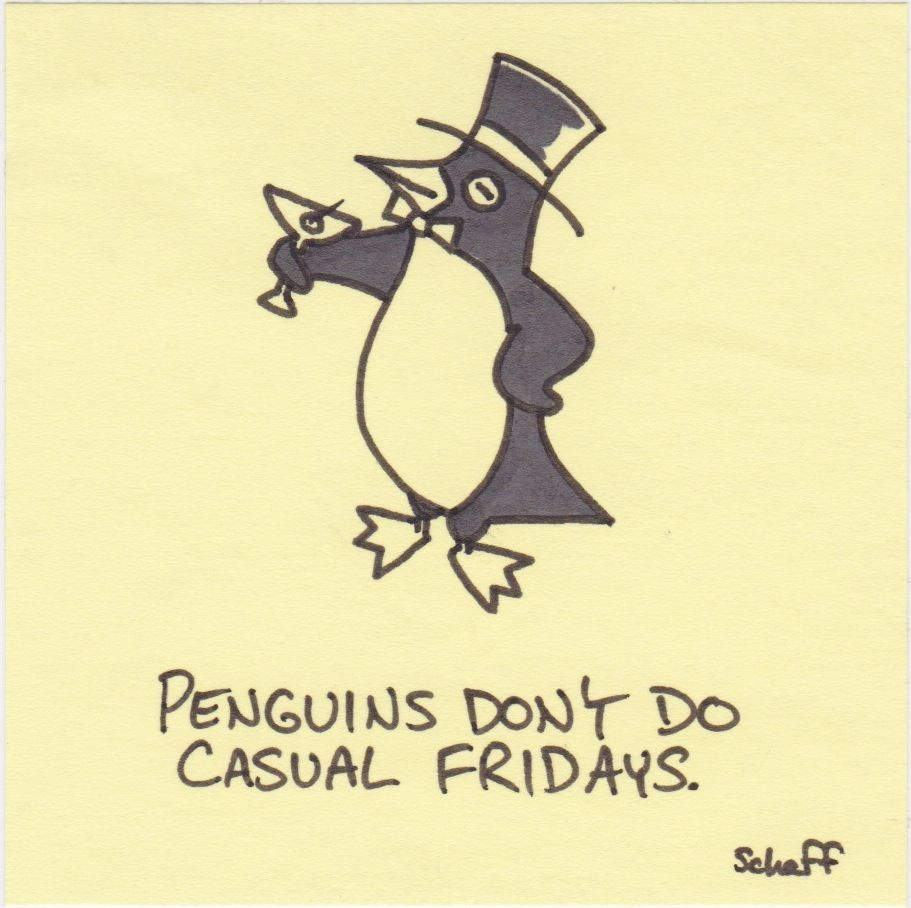 Glad I'm not a penguin! :P