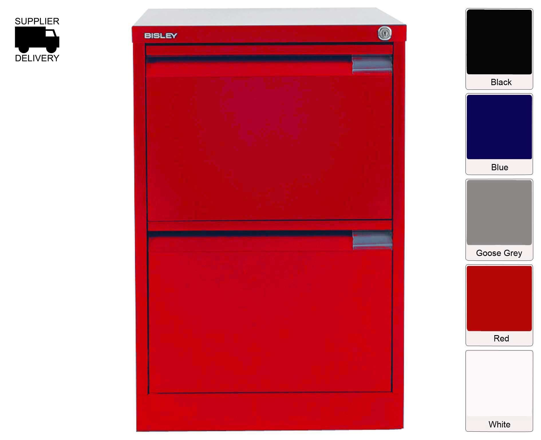 Bisley Red Filing Cabinets