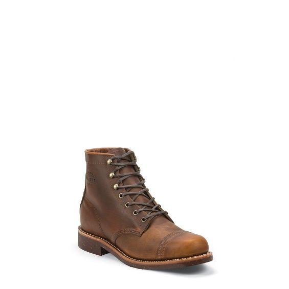 Chippewa Tan Renegade Plain Soft Toe Lace Up Homestead Boots