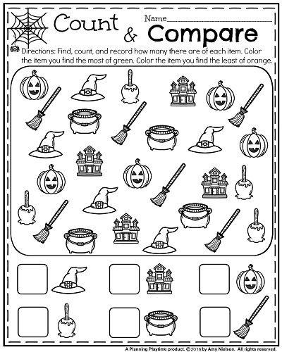 October Kindergarten Worksheets Halloween Preschool Halloween