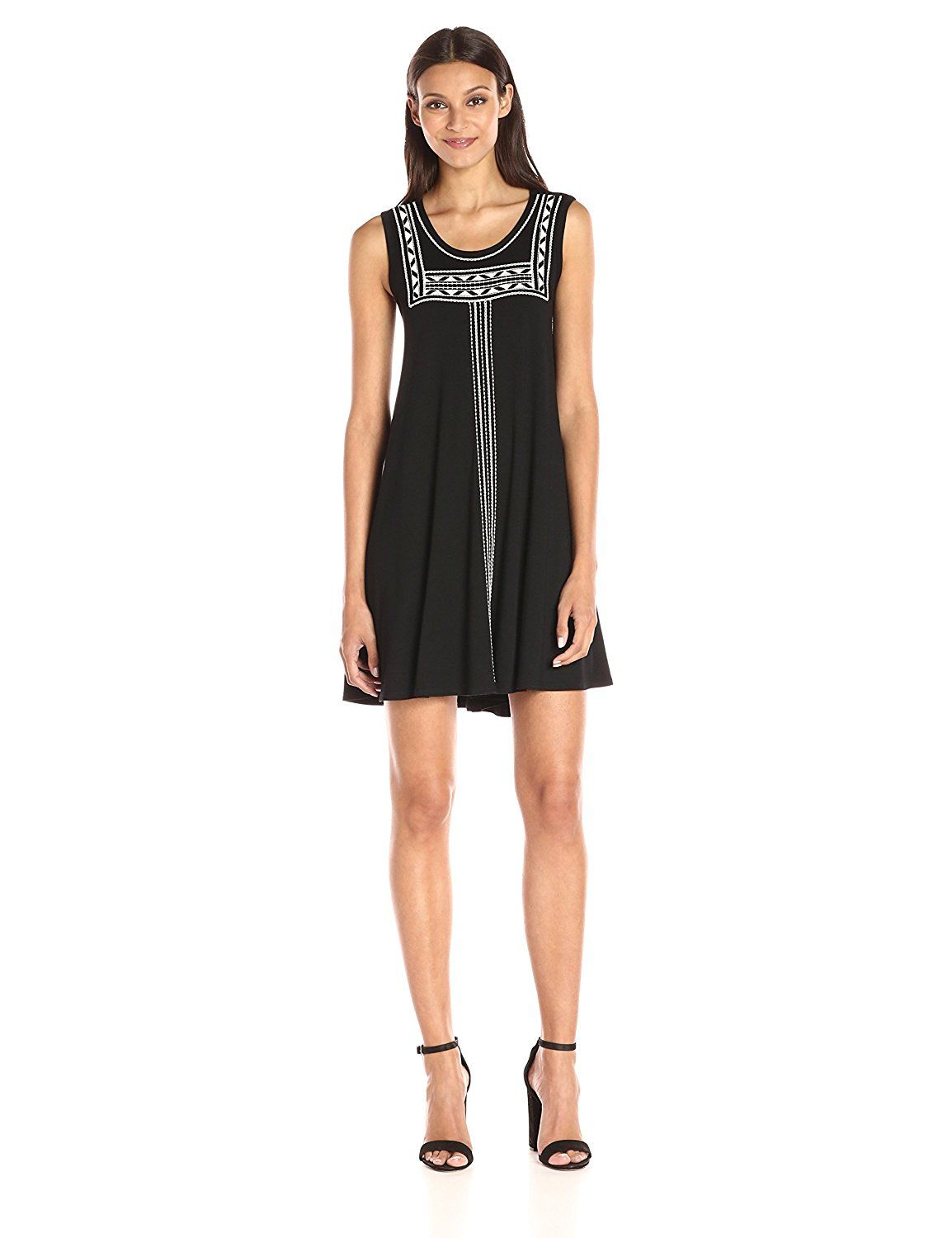 e15d9848c2413 Karen Kane Women s Embroidered Sleeveless Trapeze Dress   Find out more  details by clicking the image   black dress