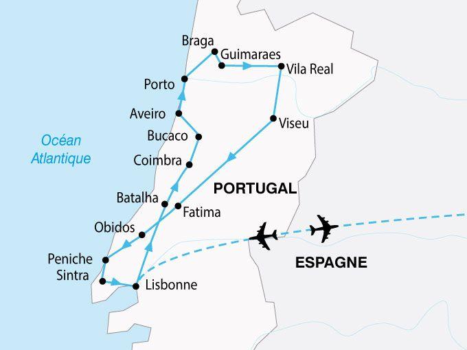 vallée du douro portugal carte Circuit au Portugal : Le Portugal, entre Tage et Douro (GT