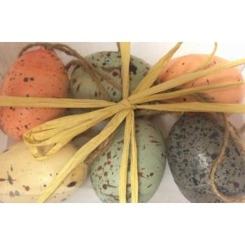 Pin by mollie fred on chocolate is so last year easter gifts create a natural looking easter tree with this fabulous set of 6 natural eggs with speckled detail and twine hangers negle Gallery