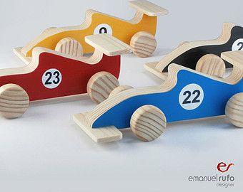 geburtstag geschenk spielzeugauto handarbeit geschenk f r kinder kinder formel 1 rennwagen. Black Bedroom Furniture Sets. Home Design Ideas