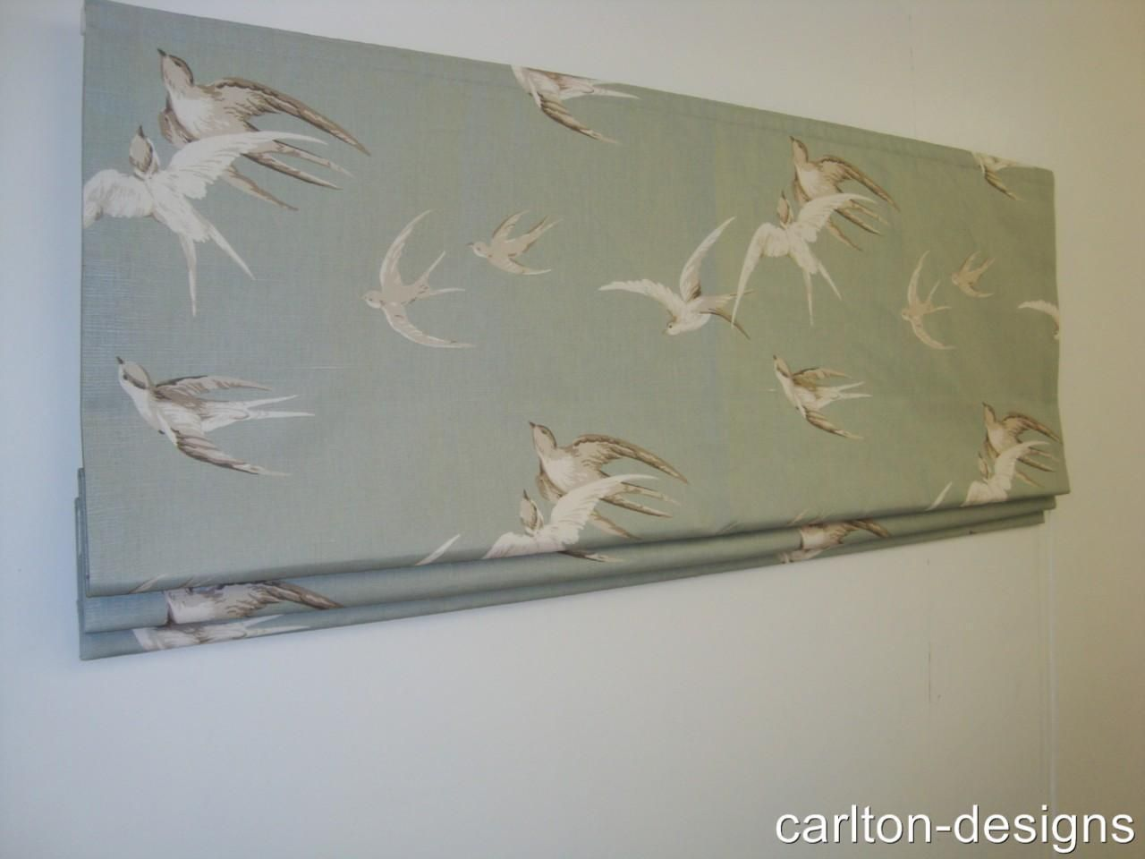 Made To Measure Roman Blind In Sanderson Swallows Fabric