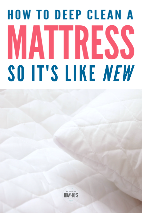 How to Deep Clean a Mattress and Remove Stains Mattress