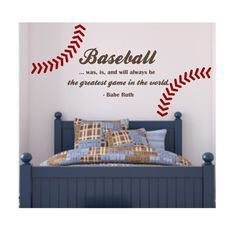 BASEBALL QUOTE With Stitching Best Game In World By Loladecor 3800