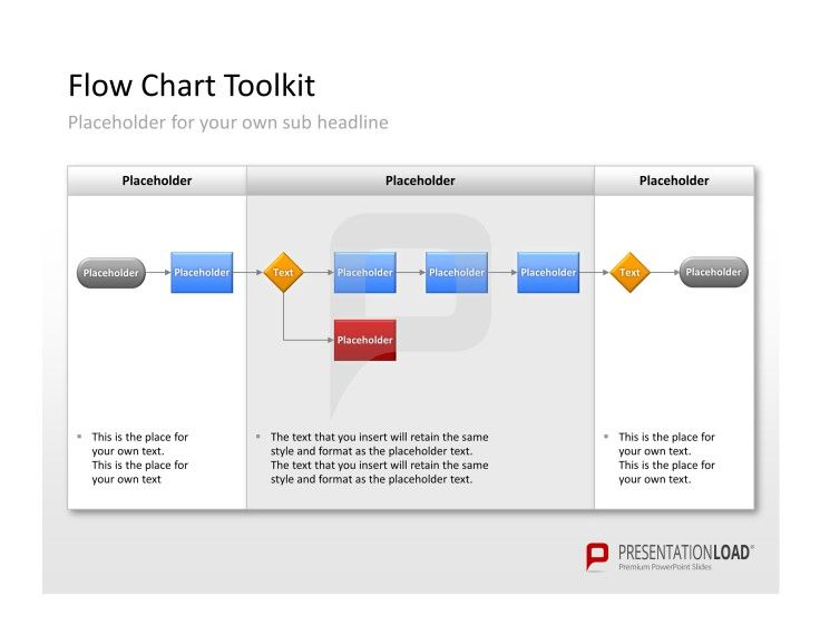 Flow Charts Powerpoint Templates The Separate Elements To Create The