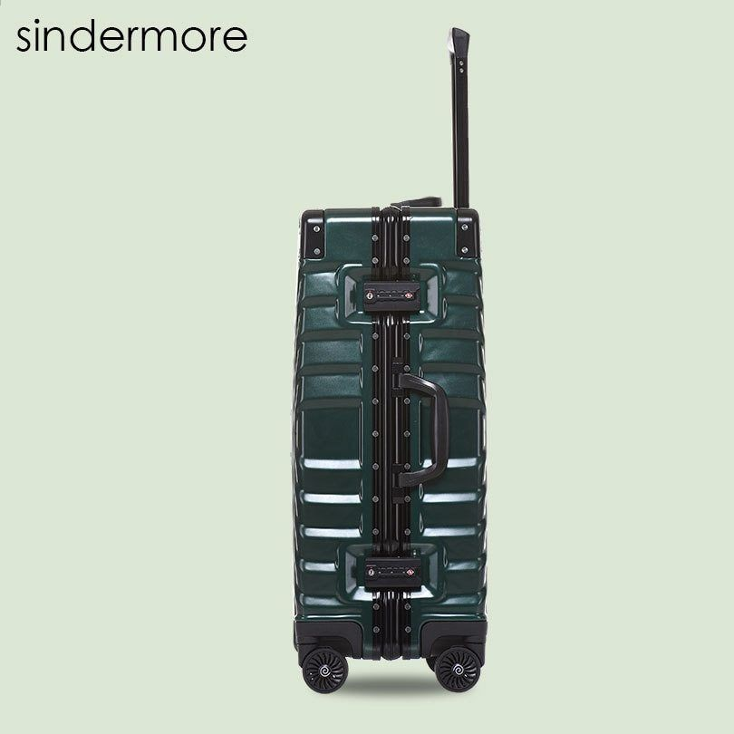 Sindermore 20 «24» 26 «29» Marco de aluminio Carry On Rolling Hardside Trolley maleta de equipaje de viaje Maleta de equipaje de viaje