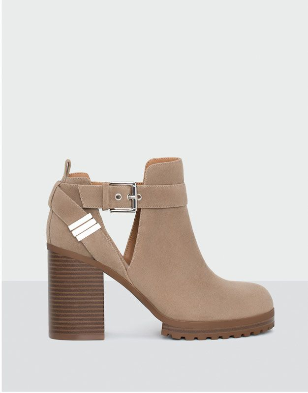 OPENWORK HIGH HEEL ANKLE BOOTS | Shoes en 2019 | Chaussure