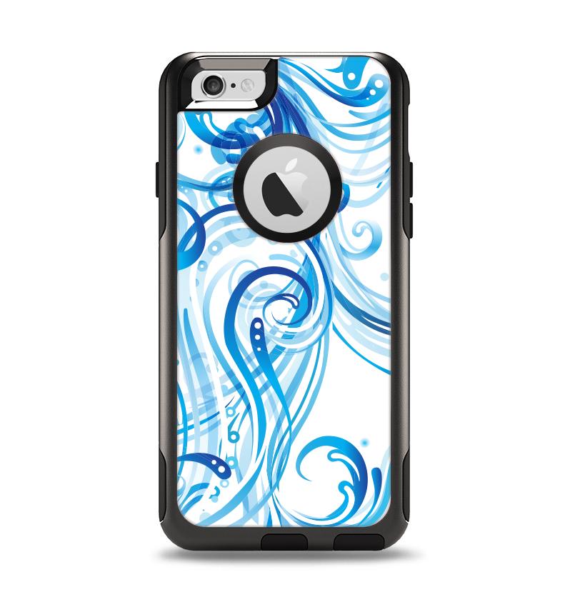 The Swirly Vector Water-Splash Pattern Apple iPhone 6 Otterbox Commuter Case Skin Set