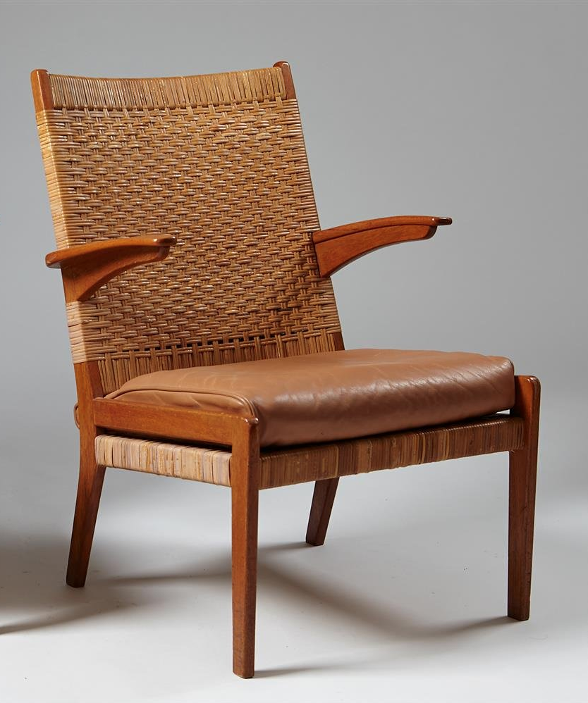 Excellent Anonymous Teak Cane And Leather Armchair 1950S Chaired Andrewgaddart Wooden Chair Designs For Living Room Andrewgaddartcom