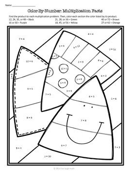 fall math color by number free 2135381 teaching resources math. Black Bedroom Furniture Sets. Home Design Ideas