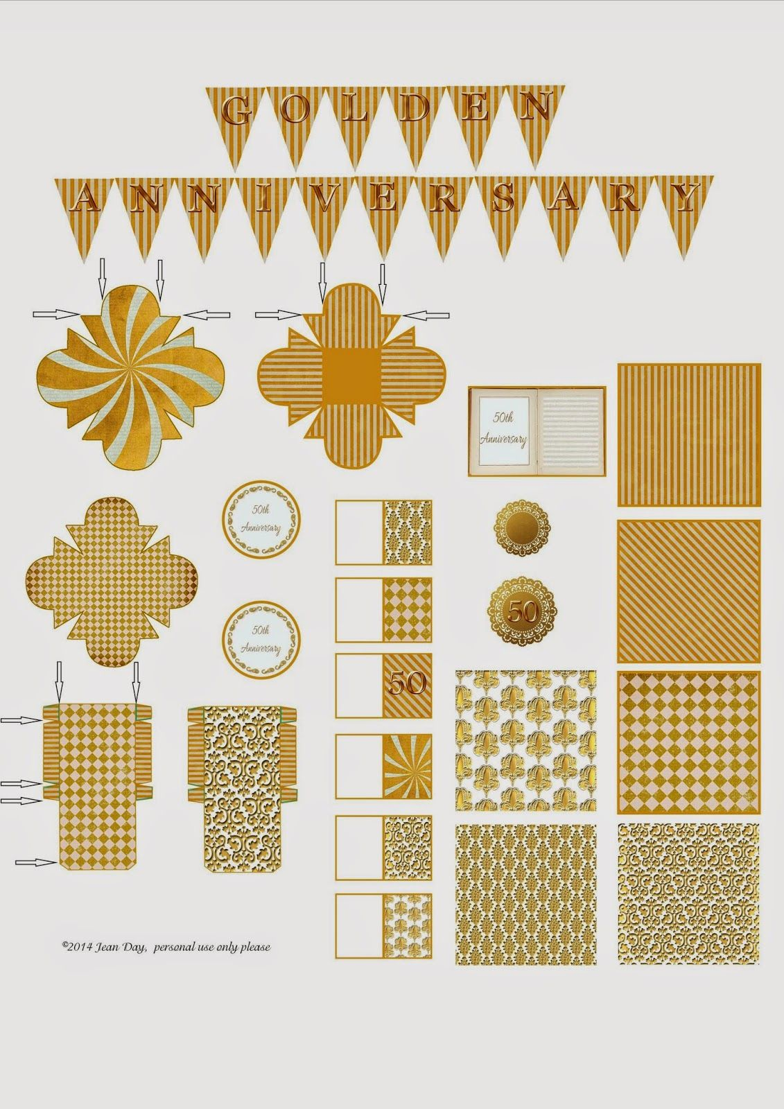 JDayMinis, Life, Antique Inspiration, Freebies: Free Printables from the Golden Anniversary issue 50 AIM Magazine