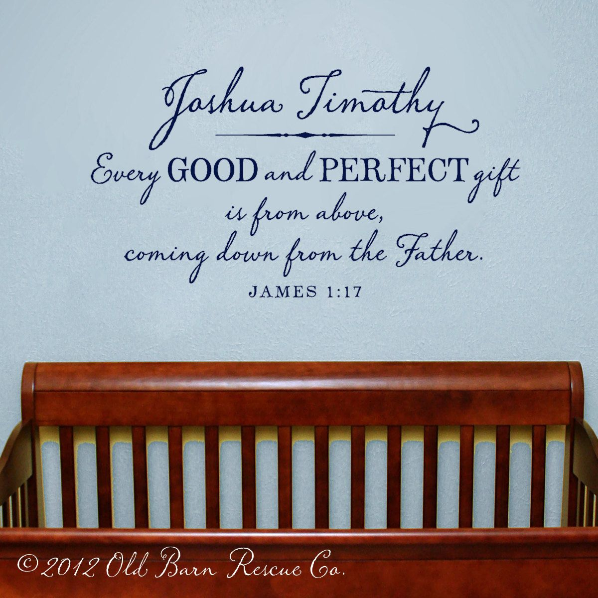 Every good and perfect giftrsonalized large boy nursery every good and perfect giftrsonalized large boy nursery scripture vinyl decal sign negle Choice Image