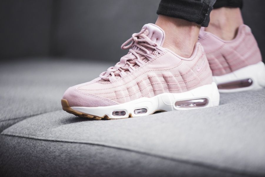 100% authentic 37f11 3581c nike air max 95 pink and grey