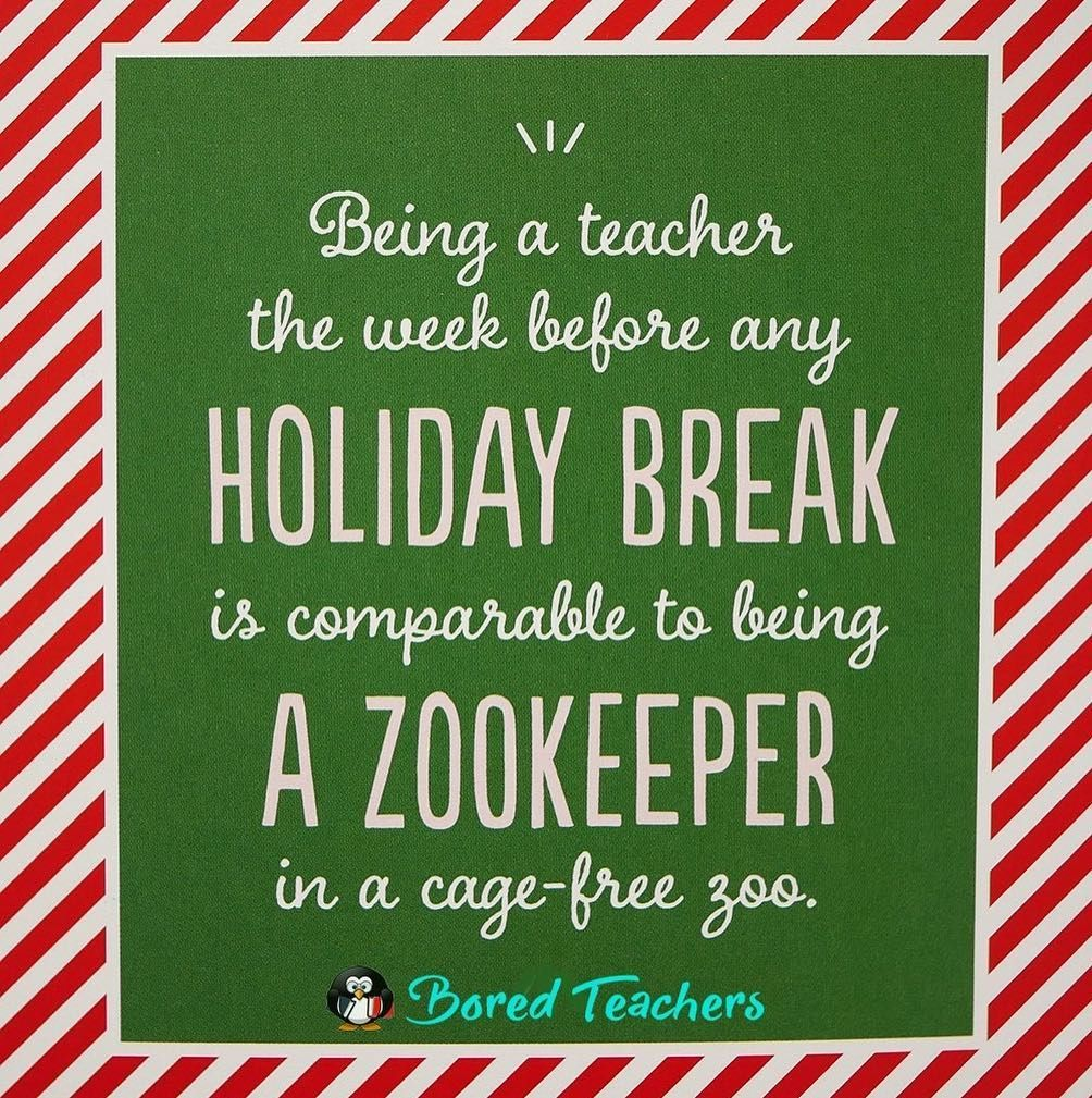 From The Surviving The Holidays Chapter Of Our Book Teachers The Struggle Is Real Available On Amazon Bored Teachers Teacher Encouragement Teacher Jokes