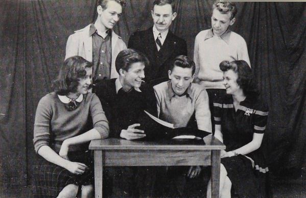 Dick Van Dyke Junior Class President In His 1943 Junior Yearbook At Danville High School In Danville Illinois