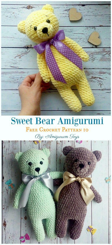 Amigurumi «Teddy bear in pajamas» Crochet pattern PDF. Tutorial ... | 1240x570